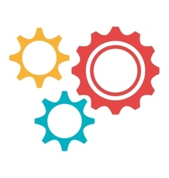 colorful settings icon graphic vector image