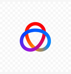 Colors triangle or infinity circles icon vector