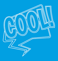 Cool comic text sound effect icon outline style vector
