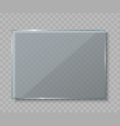 Creative of glass plates vector