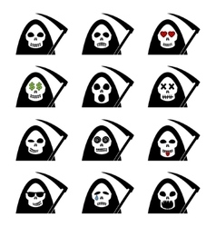Death Smile Icons vector