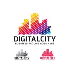digital city logo designs vector image