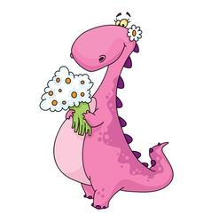 Dinosaur lady vector