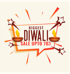 Disount and sale banner for diwali festival vector