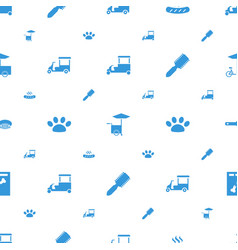 dog icons pattern seamless white background vector image