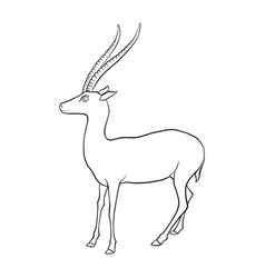 Drawing antelope vector