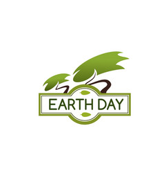 Earth day tree icon for nature protection vector