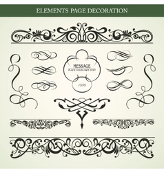 ELEMENTS PAGE DECORATION vector image