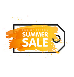 End of season summer sale sign price tag label vector