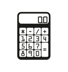 Flat calculator sign black vector