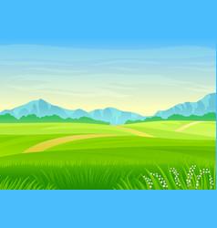 footpath through a green meadow vector image