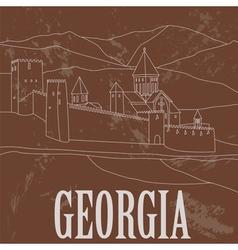 Georgia landmarks Retro styled image vector