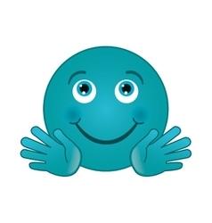 Happy smirk emoticon icon vector