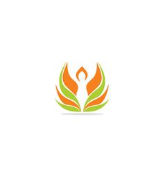 healthy life woman eco logo vector image