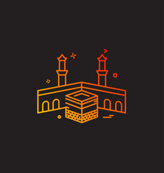 holy kaaba icon design vector image