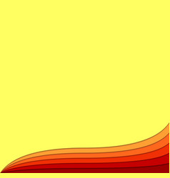 Hot wave abstract background from curved layers vector