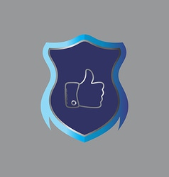 insignia theme shield vector image
