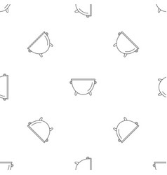 Kitchen cauldron pattern seamless vector