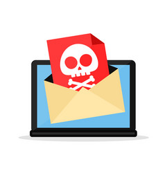 letter with a computer virus in laptop vector image
