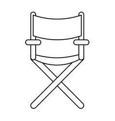 Line confortable seat object element vector