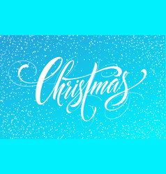 Merry christmas handwriting script lettering on a vector
