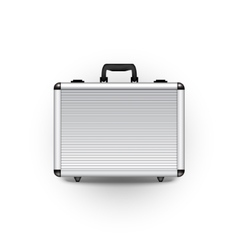 Metal briefcase vector