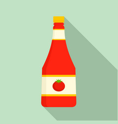 natural ketchup bottle icon flat style vector image