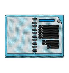 note book open symbol vector image