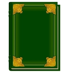Old green book Koran Holy Quran Closed book with vector image