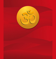 om sign in red vector image