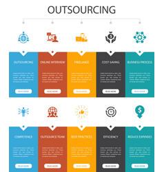 Outsourcing infographic 10 steps ui designonline vector