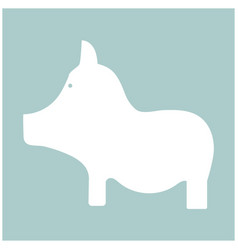 pig the white color icon vector image