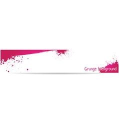 pink grungy banner vector image