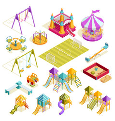 playground isometric collection vector image