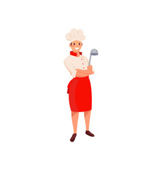professional restaurant chef in uniform with hat vector image