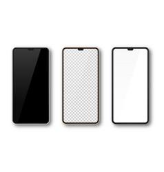 Realistic smartphone phone screen mock up vector