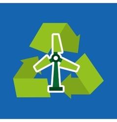 Recycle arrows symbol ecology vector