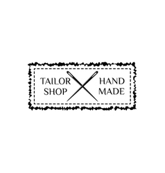 Retro hand made badge ornate frame vector