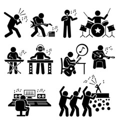 rock star musician music artist with musical vector image