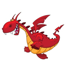 running dragon vector image