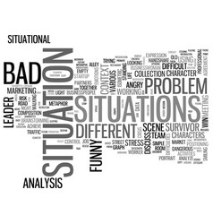 Situations word cloud concept vector
