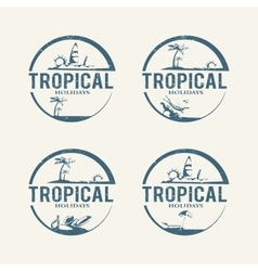 Summer holiday logos vector