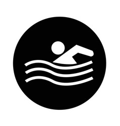Swim icon design vector