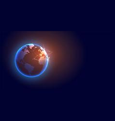 technology global digital earth futuristic vector image