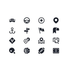 Traffic and sport icons Lyra series vector