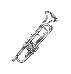 trumpet outline icon vector image