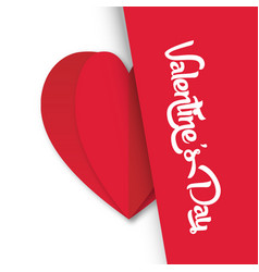 Valentine day heart on left image vector