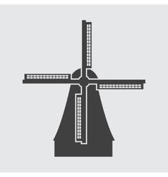 Windmill in netherlands icon vector