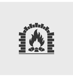 Brick oven vector image