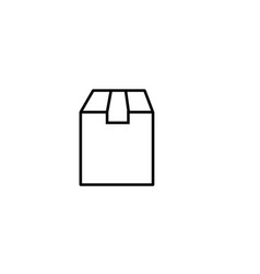 delivery box icon vector image vector image
